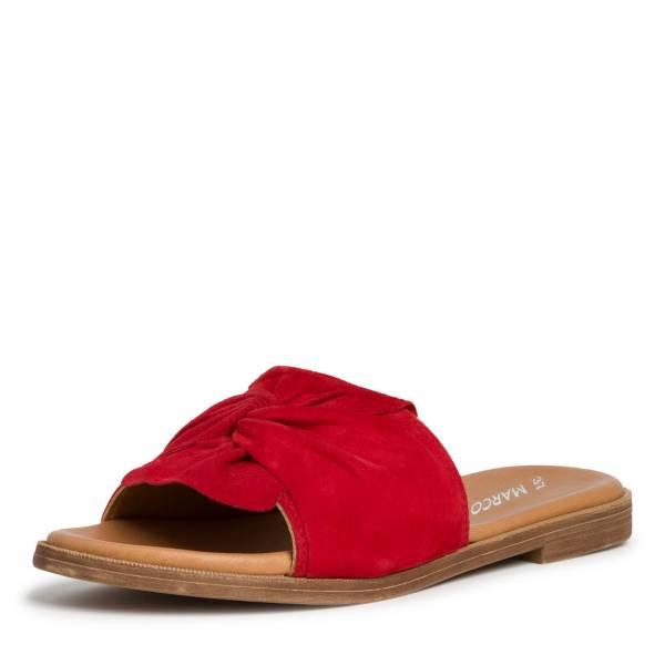 Marco Tozzi Pantolette Damen Sommerschuhe modisch elegant Freizeit rot NEU - Bild 1