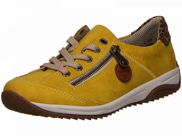 Rieker Schnürschuhe Damen Sneaker Turnschuhe modisch Freizeit gelb NEU - Bild 1