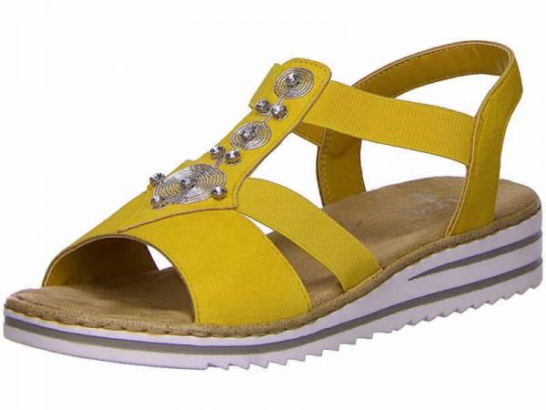 Rieker Sandale Damen Sommersandale Sandalette Pantolette modisch gelb NEU - Bild 1