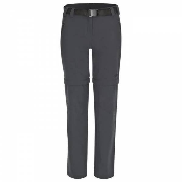 CMP Woman Long Pant Zip Off Outdoorhose Funktionshose Freizeit anthracit NEU
