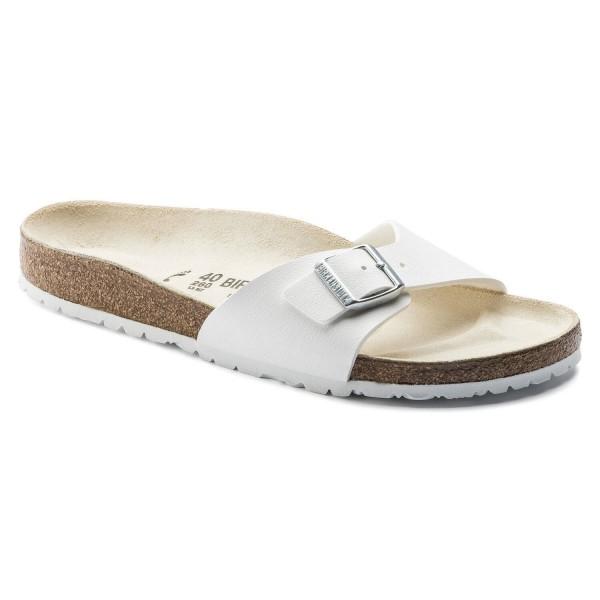 BIRKENSTOCK Madrid Birko-Flor weiß Damen 1Riemer Sandale Hausschuhe NEU - Bild 1