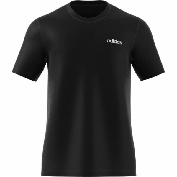 Adidas Essentials Plain T-shirt sportlich Outdoor Herren schwarz NEU - Bild 1
