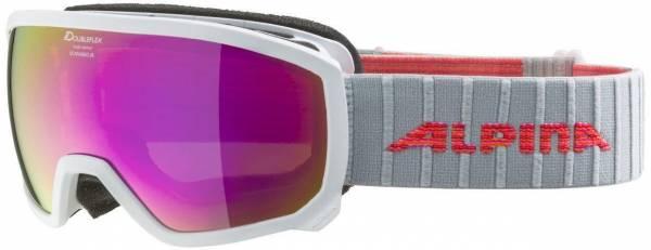 Alpina Scarabeo Junior Kinder Skibrille Snowboardbrille Wintersport white NEU
