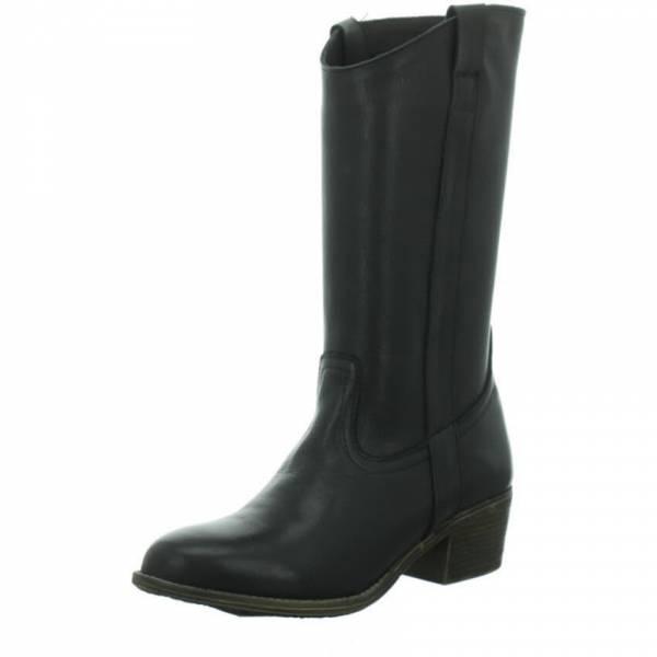 Longo Stiefel Damen Herbstschuhe Lederstiefel ungefüttert modisch schwarz  NEU - Bild 1