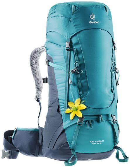 Deuter Aircontact 40+10 SL Damen Rucksack Trekking Outdoor Freizeit blau NEU