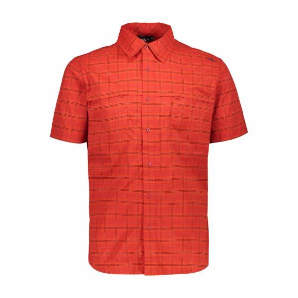 Campagnolo Man Shirt Herren CMP Hemd kurzarm Funktion Outdoor rot NEU
