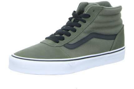 Vans Suede Canvas Ward Hi Sneaker Freizeit Skaterschuhe Dusty Olive/Black NEU - Bild 1