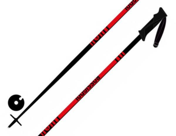 Rossignol Stove Pole 30 Unisex Ski Alpin Skistöcke Poles Skistock 1Paar red NEU