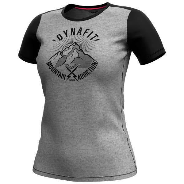 Dynafit Transalper Light Damen Funktionsshirt T-Shirt Outdoor Freizeit schwarz grau NEU