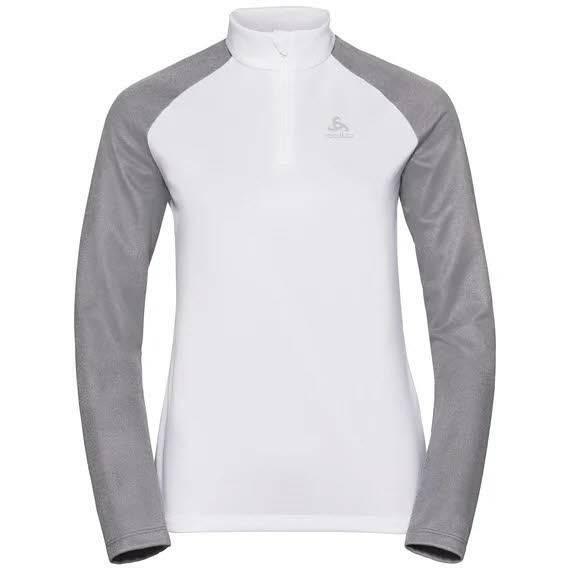 Odlo Planches Midlayer mit 1/2 Zip Damen Skirolli Wintersport white/grey NEU - Bild 1