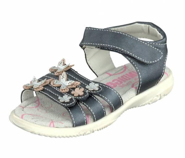 Indigo Sandale Mädchen Sandalette Klettverschluss modisch Freizeit blau NEU