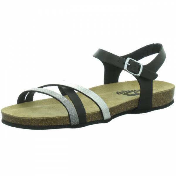 Longo Sandale Damen Pantolette Riemchensandale Sandalette modisch schwarz NEU - Bild 1