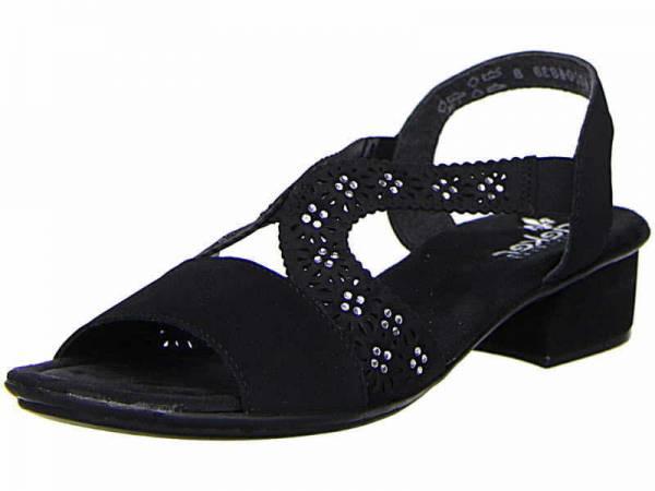 Rieker Sandalette Damen Sandale Pantolette Sommerschuhe modisch schwarz NEU - Bild 1