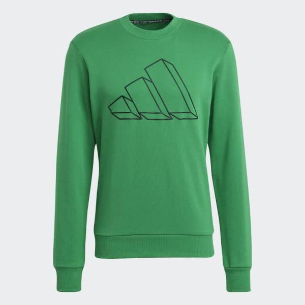 Adidas Sportswear Graphic Sweatshirt Pullover sportlich Outdoor Herren grün NEU - Bild 1