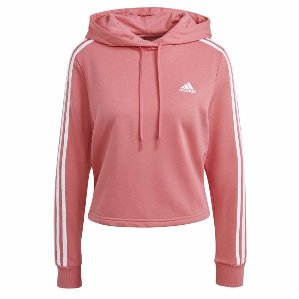 adidas Essentials 3-Streifen Hoodie Pulli Freizeit Sport Training Damen rosa NEU - Bild 1