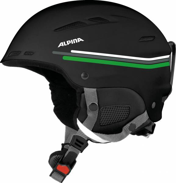 Alpina Biom Skihelm Snowboardhelm black-grey-green-mat NEU