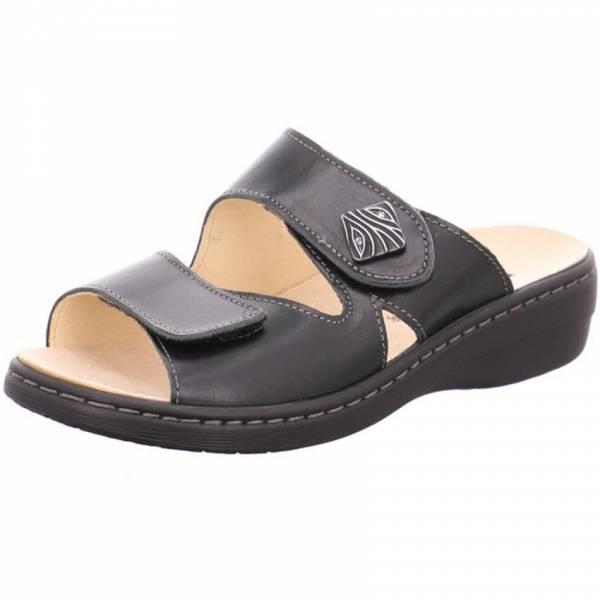 Longo Pantolette Damen Sandale Sandalette Sommerschuhe Freizeit schwarz NEU - Bild 1