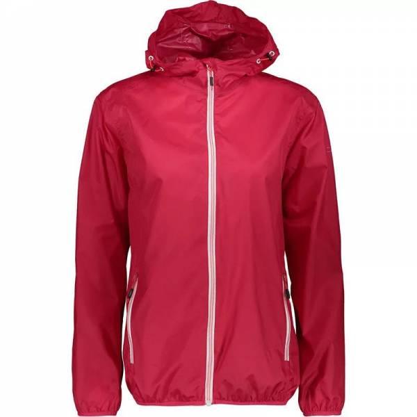 CMP Woman Jacket Fix Hood Damen Outdoorjacke Regenjacke Freizeit corall NEU