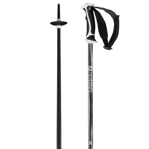 Salomon SHIVA black Poles 18/19 Uni Skistöcke OnPiste Alpine Poles schwarz NEU - Bild 1