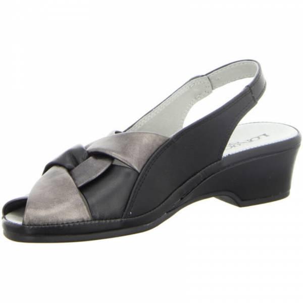 Longo Sandalette Damen Sommerschuhe Pantolette Sandale modisch schwarz NEU - Bild 1