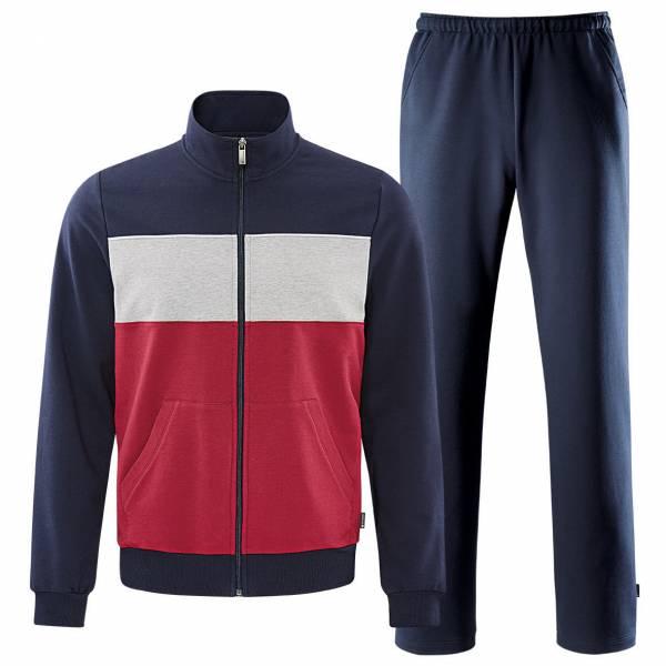 Schneider Blairm Anzug Herren Trainingsanzug Fitness Freizeit rot dunkelblau NEU - Bild 1