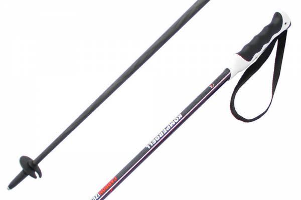 Komperdell Carbonized 16 Black/Red 18/19 Unisex Skistöcke Alpine Ski Poles NEU - Bild 1