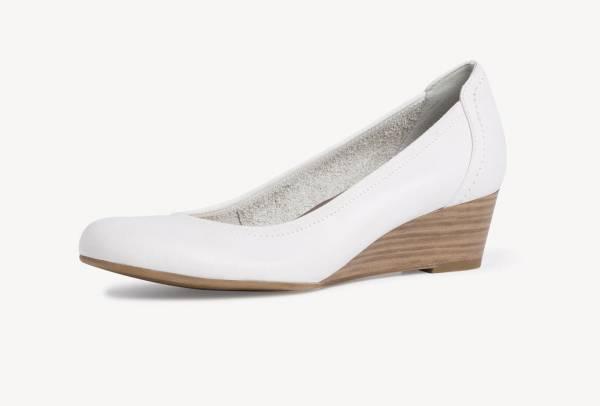 Tamaris Keilpumps Damen Business Lifestyle Pumps modisch elegant Leder white NEU