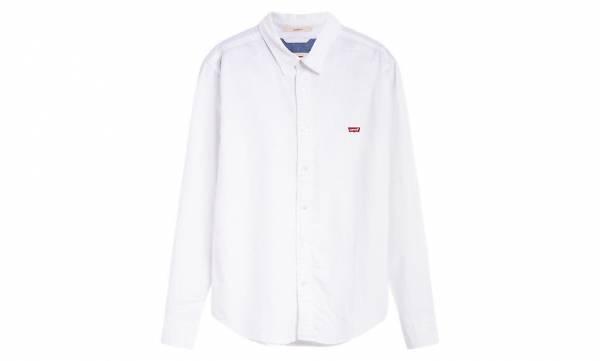 LEVI'S LS Battery Housemark Slim Herren Hemd langarm Freizeit weiss NEU - Bild 1