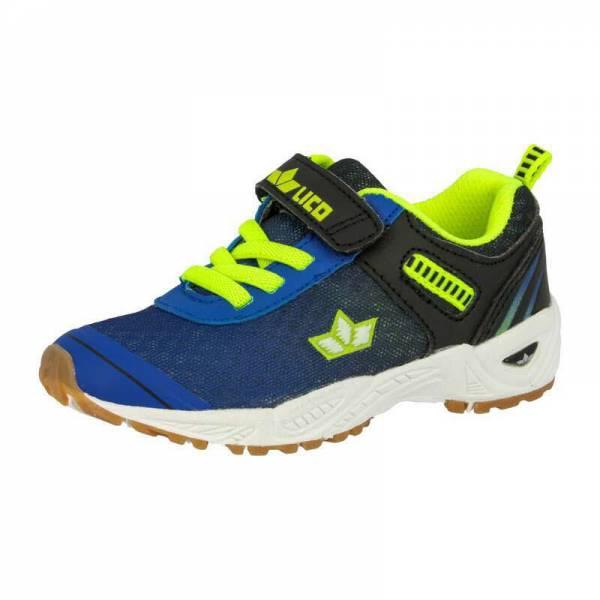 Lico Sportschuh Barney VS Kinder Sneaker Freizeitschuhe Kletter blau/lemon NEU
