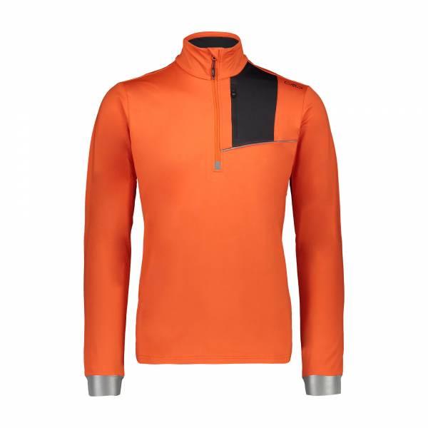 Campagnolo Herren Sweat Midlayer Funktionsshirt Funktionsrolli red orange NEU - Bild 1