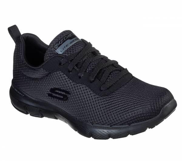 Skechers Flex Appeal 3.0 First Insight Damen Freizeitschuhe Sneaker schwarz NEU