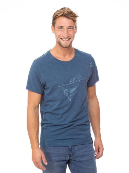 Chillaz Sloth T-Shirt Freizeit Outdoor sportlich modisch Herren blau NEU - Bild 1
