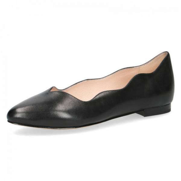 Caprice Ballerina Damen Business Lifestyle Lederschuhe modisch elegant black NEU