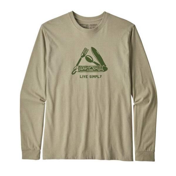 Patagonia Men's Long-Sleeved Live Simply® Pocketknife Responsibili-Tee® T-Shirt Herren Freizeit Sport NEU
