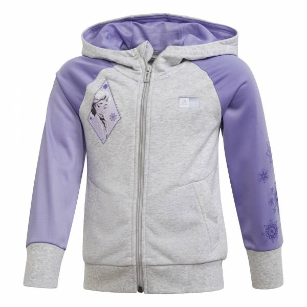 adidas LG DY Frozen 2 Cover Up Mädchen Trainingsjacke Freizeit grau lila NEU - Bild 1