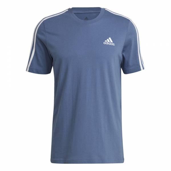 Adidas Essentials T-shirt sportlich Outdoor Herren blau NEU