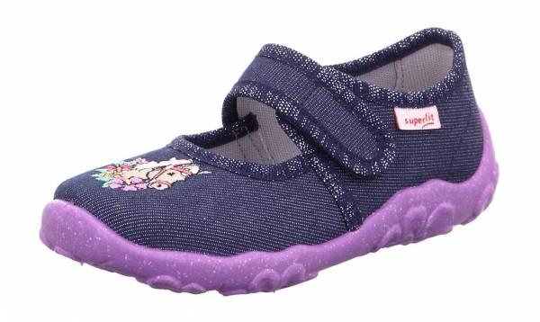 Superfit Bonny Kinder Hausschuhe Pantoffeln Kletter Freizeitschuhe blau NEU