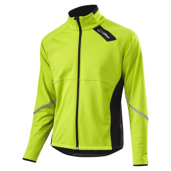 Löffler Bike Jacket WS Softshell Warm Herren Fahrradjacke Radsport lime NEU