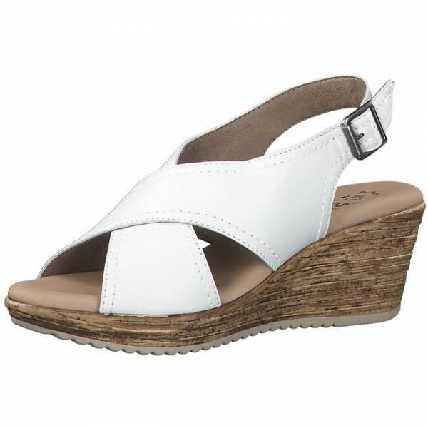 Jana Sandale mit Absatz Damen Pantolette Sandalette elegant modisch weiß NEU