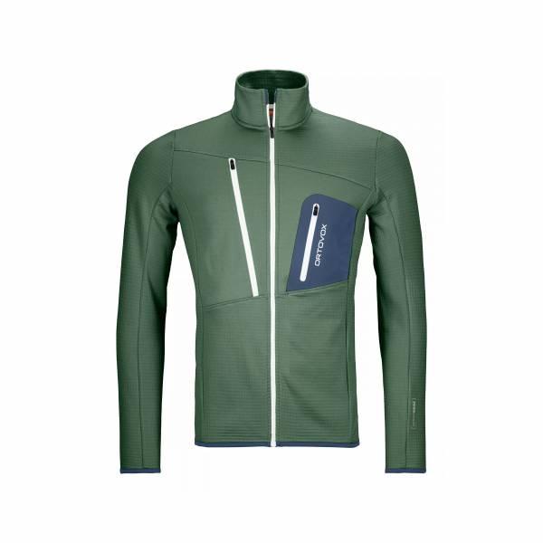 ORTOVOX Fleece Grid Jacket Herren Midlayer Jacke Funktion green forest NEU