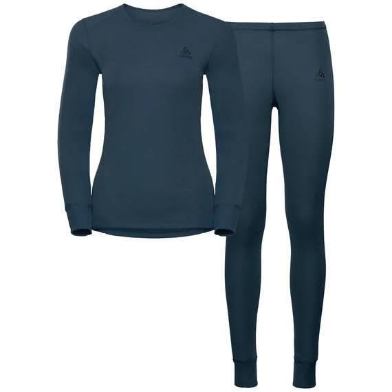 Odlo Set Active Originals Warm Damen Unterwäsche Set Funktion blau NEU