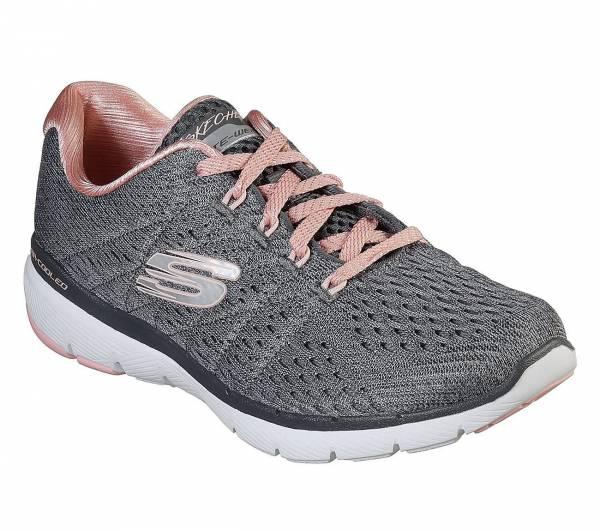 Skechers Flex Appeal 3.0 Damen Sneaker Trainingsschuhe Freizeit grau NEU