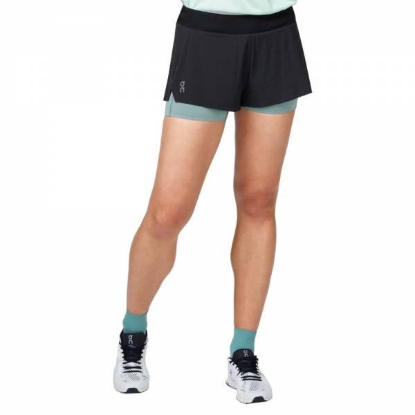 ON Running Shorts Damen Laufshort Sportshort black   sea NEU - Bild 1