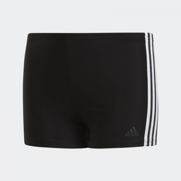 adidas 3-Streifen Kinder Boxer-Badehose Freizeit Sport Jungen schwarz NEU
