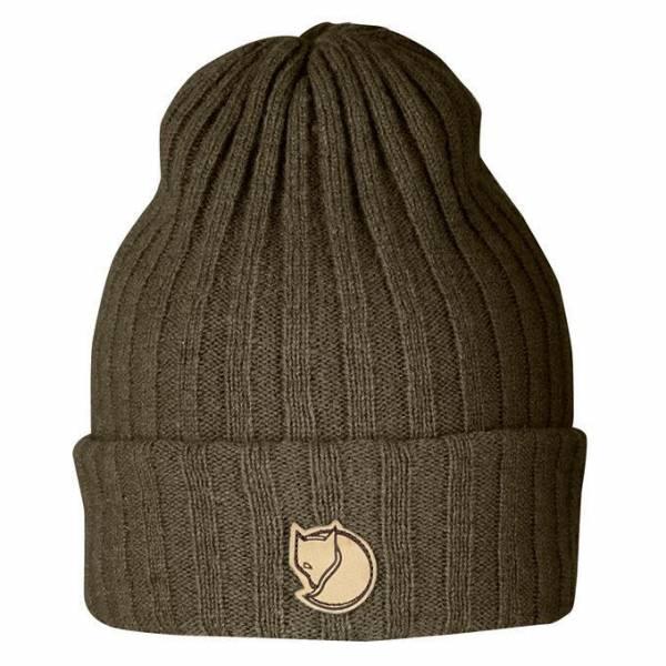 Fjällräven Byron Hat unisex everyday Outdoor Mütze Doppelstrick Wolle Umschlag grün/olive NEU