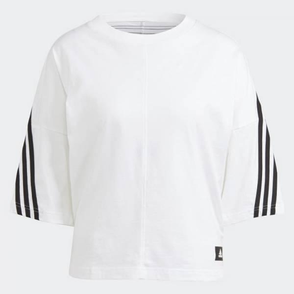 adidas Sportswear Future Icons 3-Streifen T-Shirt Freizeit Damen weiß NEU - Bild 1