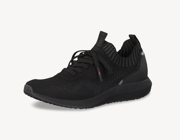Tamaris Sneaker Low Damen Freizeitschuhe Schnürer Trainingsschuhe black NEU