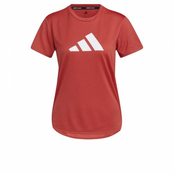 adidas 3 bar Logo T-Shirt Sport Freizeit Fitness Training Damen rot NEU - Bild 1