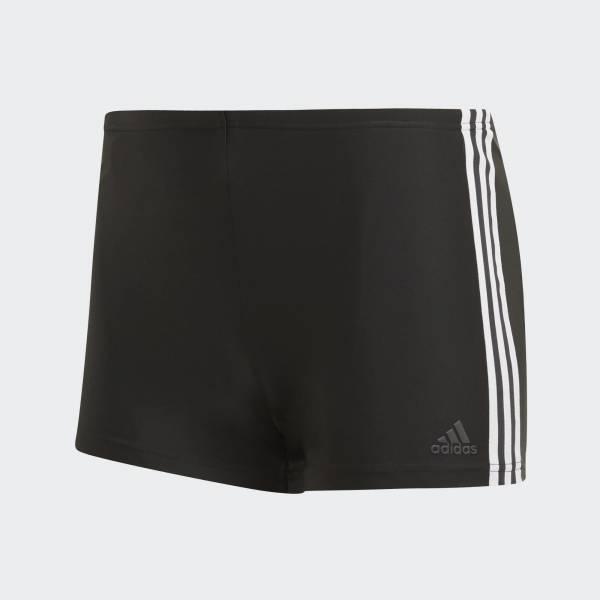 adidas 3-Streifen Boxer-Badehose Badekleidung Freizeit Herren schwarz NEU - Bild 1