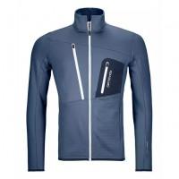 ORTOVOX Fleece Grid Jacket Herren Midlayer Jacke Funktion blau NEU